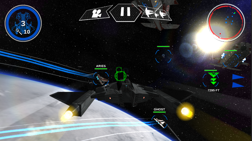 Flying a Hadian bomber in Edge Of Oblivion: Alpha Squadron 2